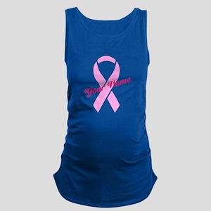 Custom Pink Ribbon Maternity Tank Top