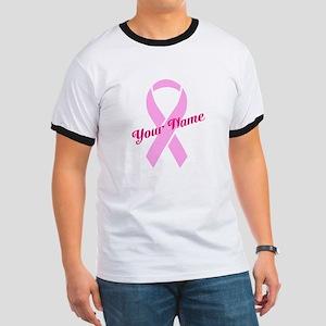Custom Pink Ribbon Ringer T