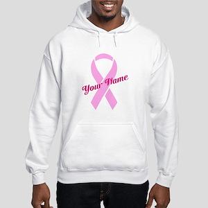 Custom Pink Ribbon Hooded Sweatshirt