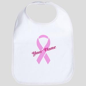 Custom Pink Ribbon Bib