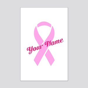 Custom Pink Ribbon Mini Poster Print