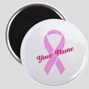 Custom Pink Ribbon Magnet