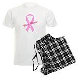 Custom Pink Ribbon Men's Light Pajamas