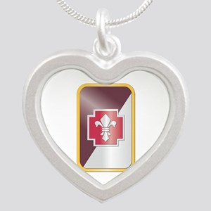 SSI - 62nd Medical Brigade Silver Heart Necklace