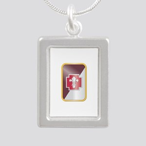 SSI - 62nd Medical Brigade Silver Portrait Necklac