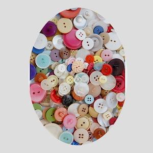 Button, Button Oval Ornament