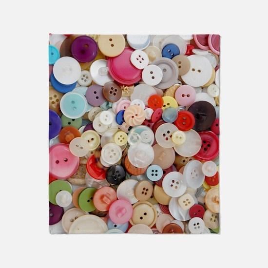 Button, Button Throw Blanket