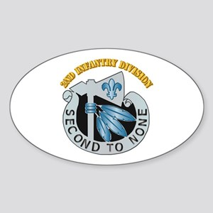 DUI - 2nd Infantry Division with Text Sticker (Ova