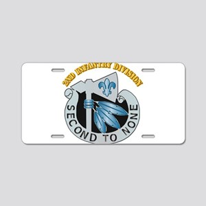 DUI - 2nd Infantry Division with Text Aluminum Lic