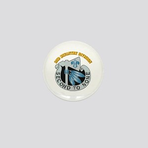 DUI - 2nd Infantry Division with Text Mini Button