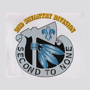 DUI - 2nd Infantry Division with Text Throw Blanke
