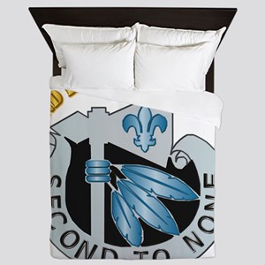 DUI - 2nd Infantry Division with Text Queen Duvet