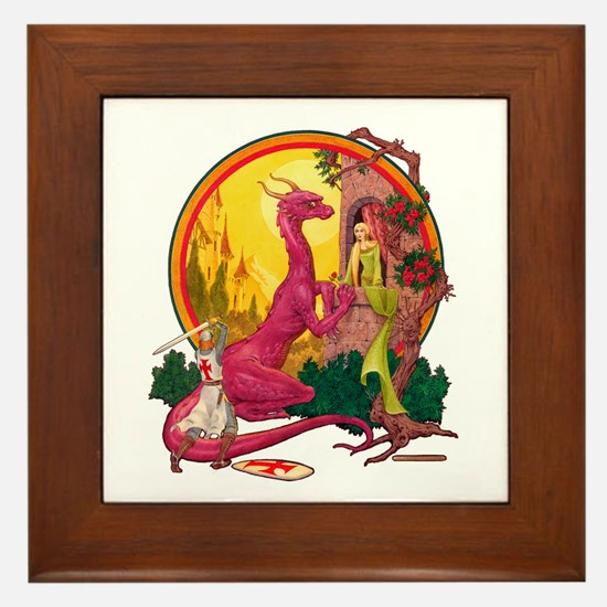 St.George and the Dragon Framed Tile