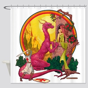 St.George and the Dragon Shower Curtain
