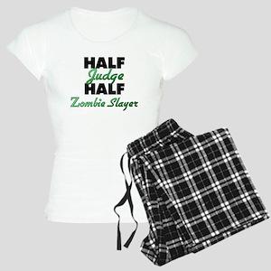 Half Judge Half Zombie Slayer Pajamas