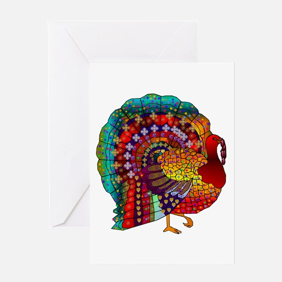 Thanksgiving Jeweled Turkey Greeting Cards