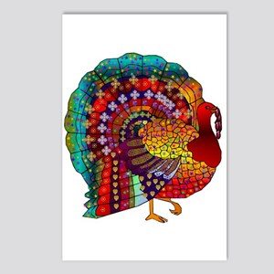 Thanksgiving Jeweled Turkey Postcards (Package of