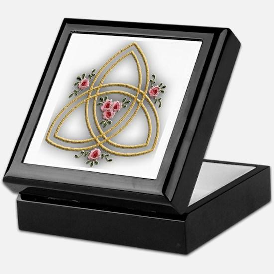 Trinity Cross Design Keepsake Box