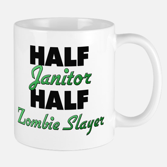 Half Janitor Half Zombie Slayer Mugs