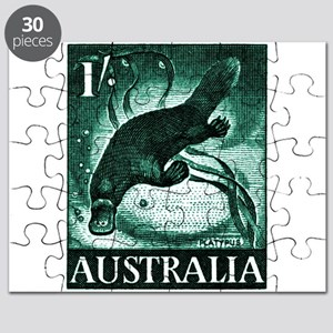 Vintage 1959 Australia Platypus Postage Stamp Puzz