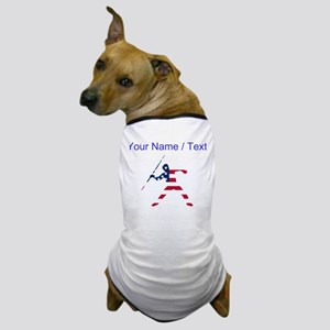 Custom American Flag Javelin Throw Dog T-Shirt