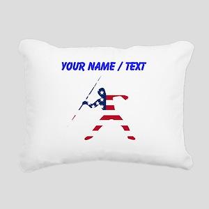 Custom American Flag Javelin Throw Rectangular Can