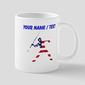 Custom American Flag Javelin Throw Mugs
