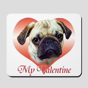 Pug Valentine Mousepad