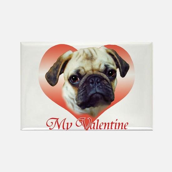 Pug Valentine Rectangle Magnet