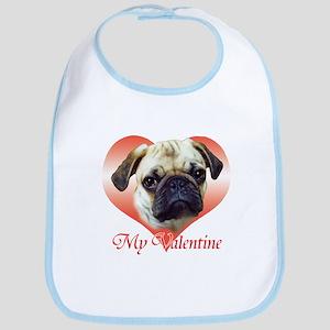 Pug Valentine Bib