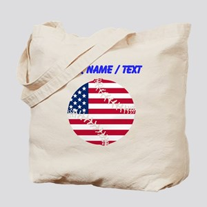 Custom American Flag Baseball Tote Bag