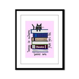 Cat Lover Framed Panel Print