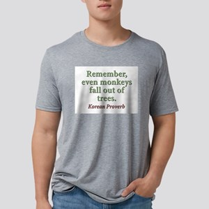 Remember Even Monkeys Fall Out Of Trees Mens Tri-b