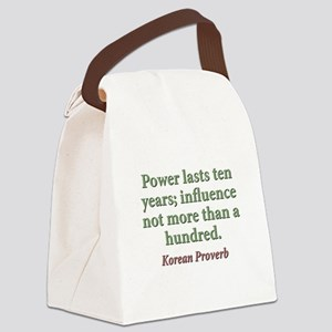 Power Lasts Ten Years Canvas Lunch Bag