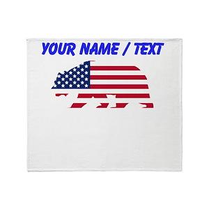 California Bear Flag Blankets - CafePress 0079ad284