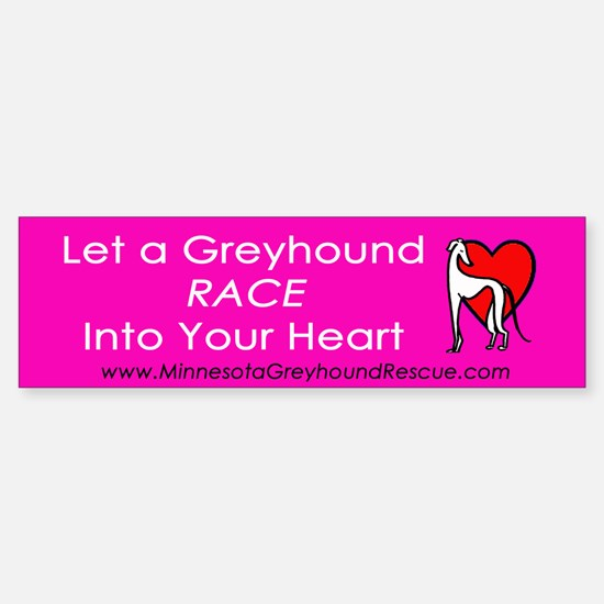 Race Into Your Heart Bumper Bumper Bumper Sticker