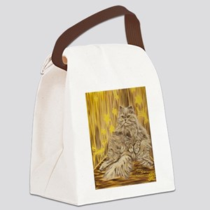 Fila Cat painting Canvas Lunch Bag