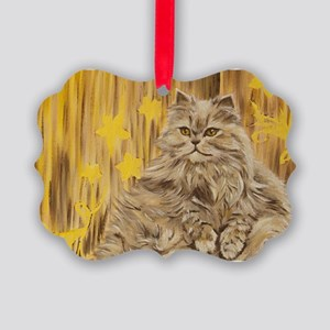 Fila Cat painting Picture Ornament