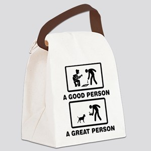Pit bull Terrier Canvas Lunch Bag
