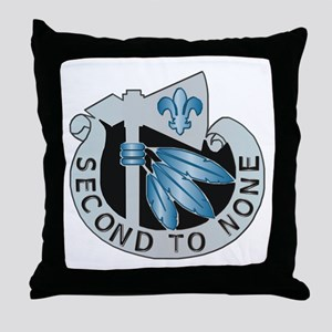 DUI - 2nd Infantry Division Throw Pillow