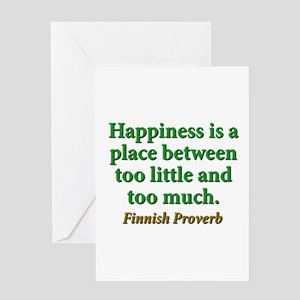 Happiness Is A Place Between Greeting Card