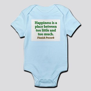 Happiness Is A Place Between Infant Bodysuit