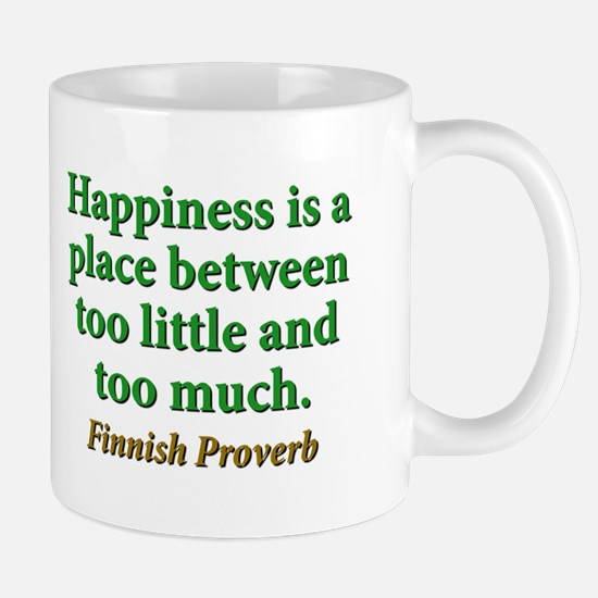 Happiness Is A Place Between Mug
