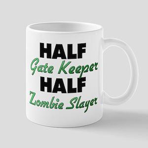 Half Gate Keeper Half Zombie Slayer Mugs