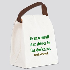 Even A Small Star Shines Canvas Lunch Bag