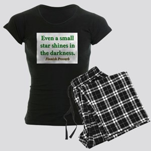 Even A Small Star Shines Women's Dark Pajamas