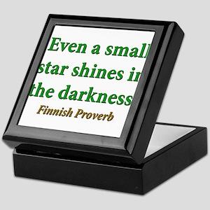 Even A Small Star Shines Keepsake Box