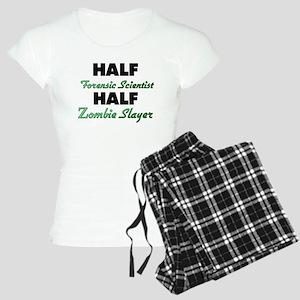 Half Forensic Scientist Half Zombie Slayer Pajamas