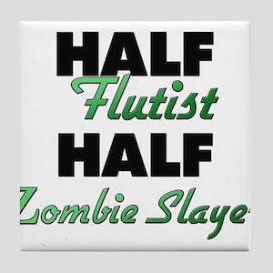 Half Flutist Half Zombie Slayer Tile Coaster