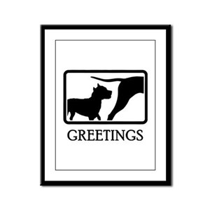 American Staffordshire Terrier Framed Panel Print
